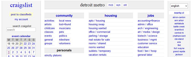 Craigslist housing